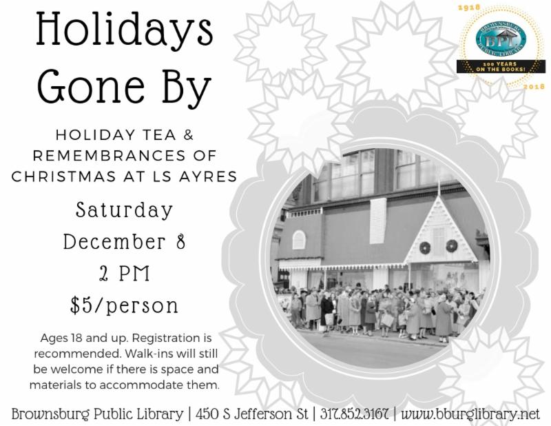 holidays gone by saturday december 8 2 pm _5 per person