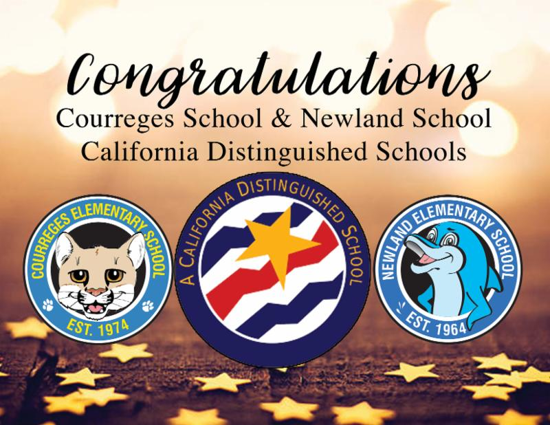 Newland and Courreges Named CA Distinguished Schools