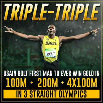 Usain Bolt 3 medals