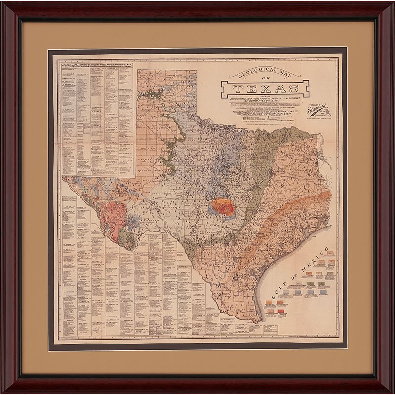 Gallery of the Republic - The Ultimate Texas Oil and Gas Map