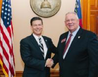 Rep. Brett Harrell with Speaker David Ralston