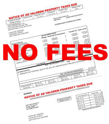 No Fees on My Tax Bill