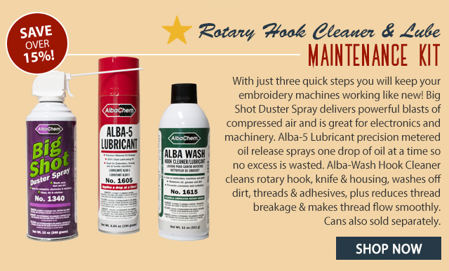rotary hook cleaner and lube maintenance kit