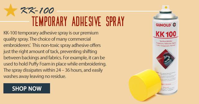kk-100 temporary adhesive spray