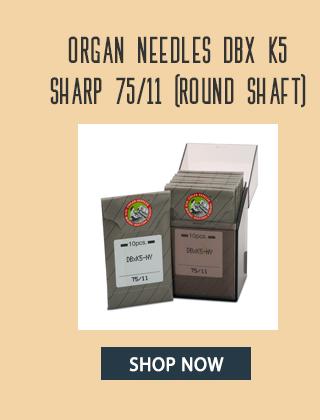 organ needles dbx k5 sharp 75/11 round shaft shop now