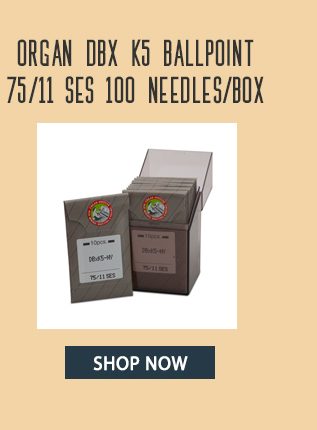 organ dbx k5 ballpoint 75/11 ses 100 needles/box