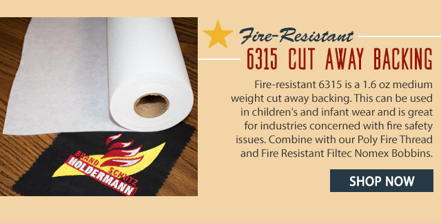 fire resistant 6315 cut away backing shop now