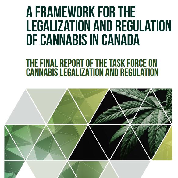 Cover of final report of Marijuana Task Force