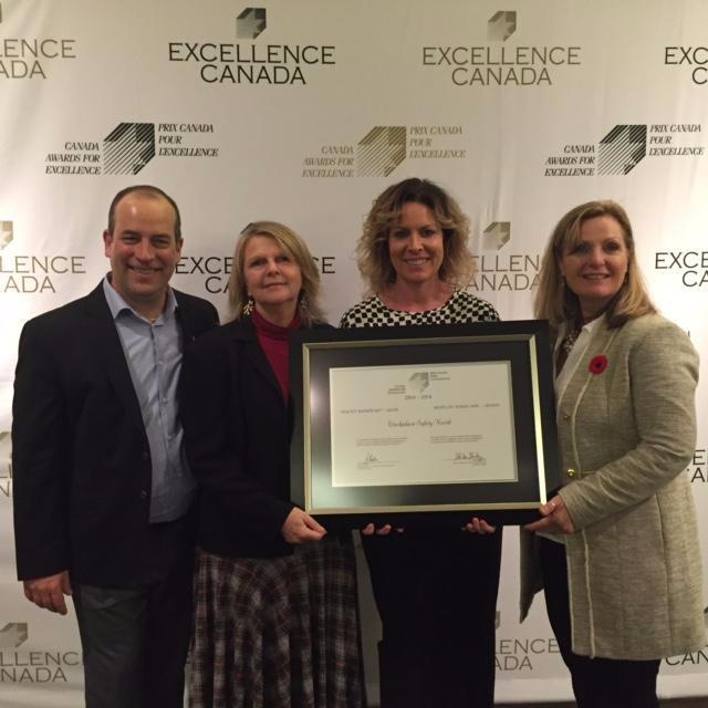 WSN staff accept award