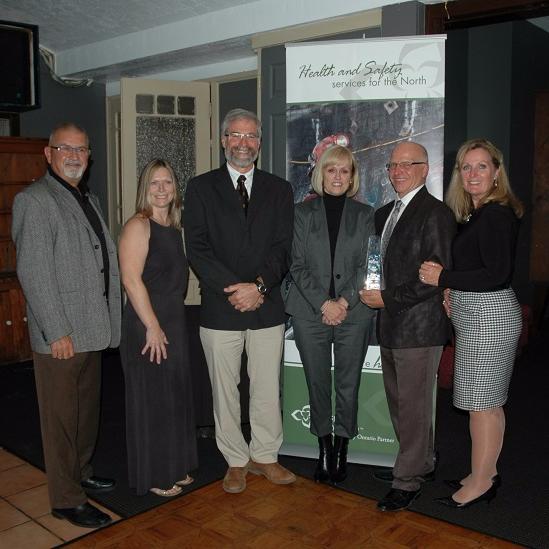 Cementation Canada staff accepting award