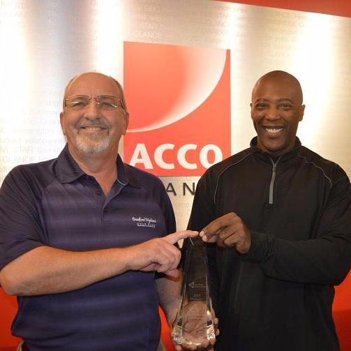 Workers accept health and safety award