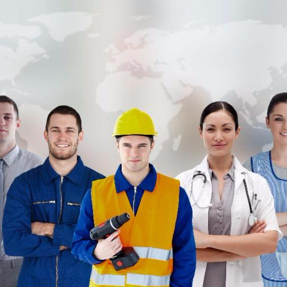 Variety of workers