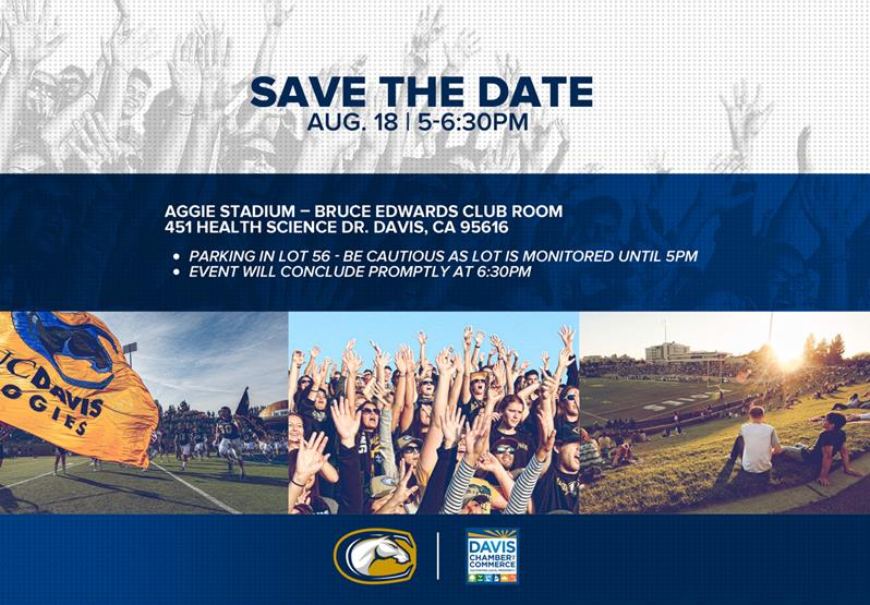 Join us at aggie stadium this thursday for Uc davis business cards