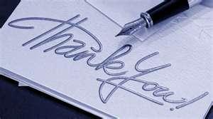 Thank you pen