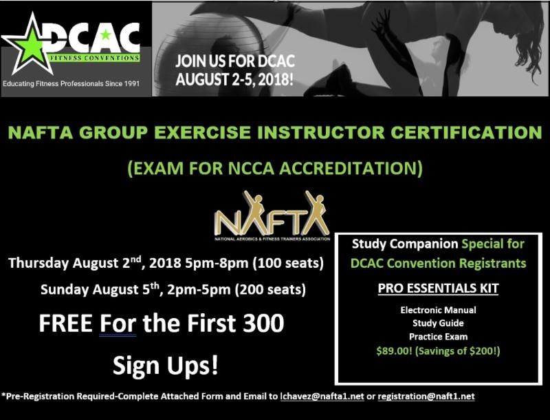Dcac Fitness Attendees Free Group Exercise Instructor Exam