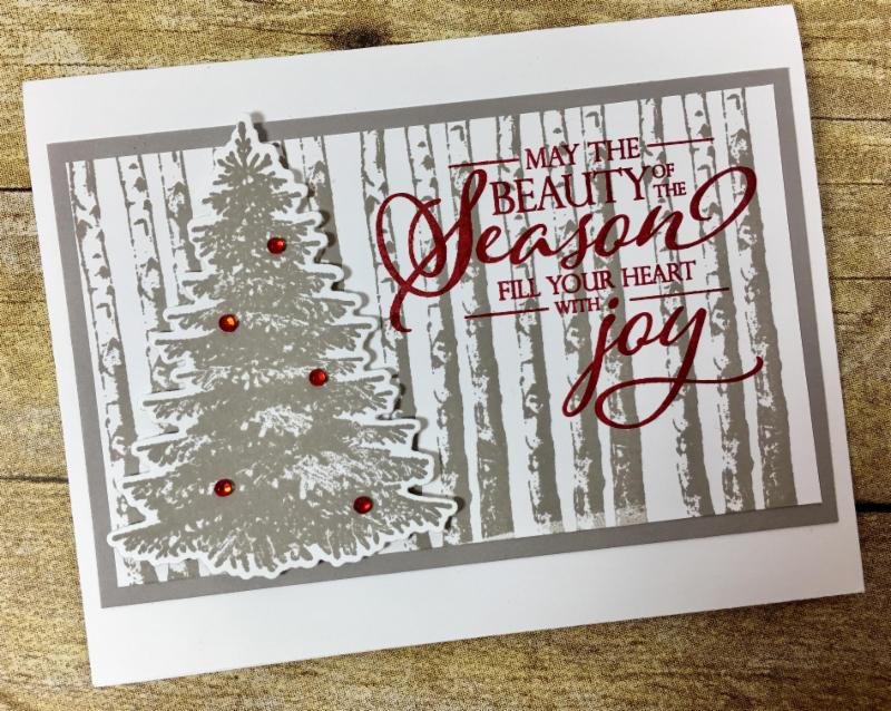 This Christmas Card uses Stampin' Up!'s Winter Woods Bundle!