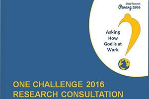 Asking How God is at Work _ 2016 One Challenge Research Consultation