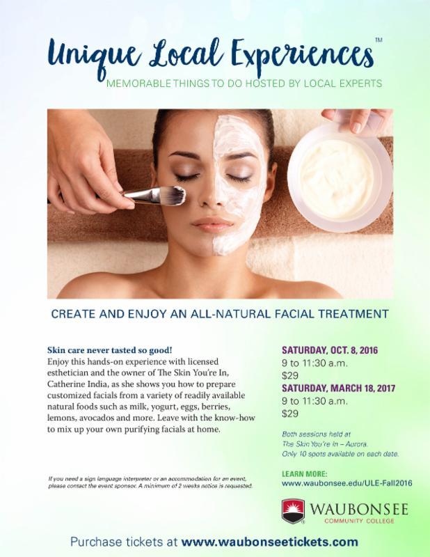 natural facial treatment