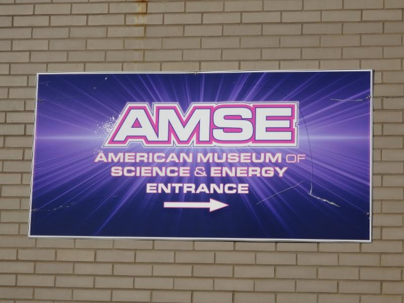 The sign for the American Museum of Science and Energy