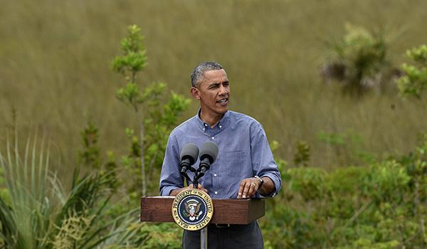 Obama Visits the Everglades