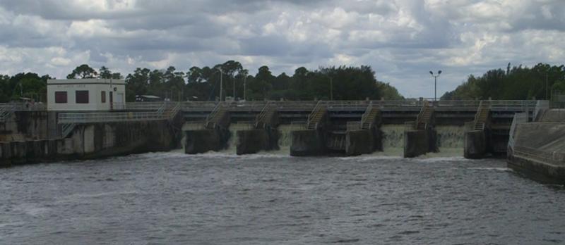 St Lucie Lock & Dam discharge