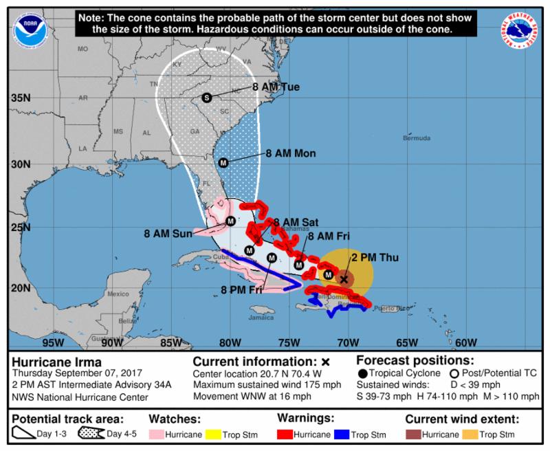 Hurricane Irma 9-7-17 5pm