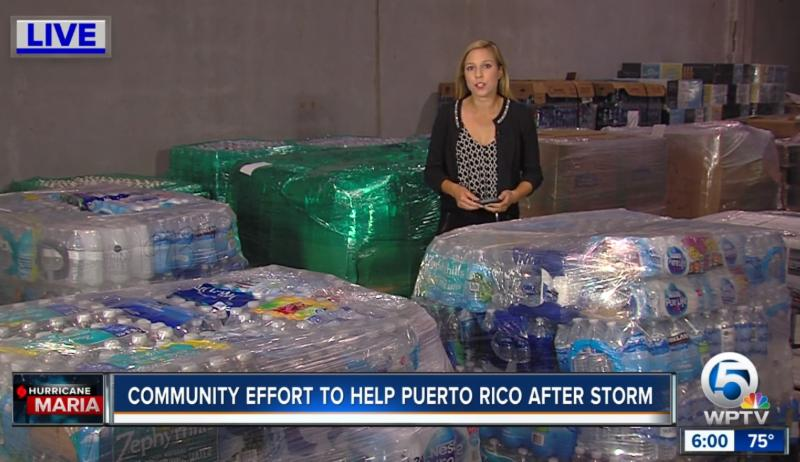 Hurricane relief from port
