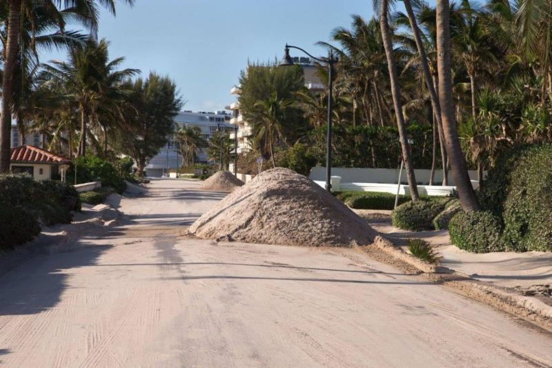 sand removal Irma