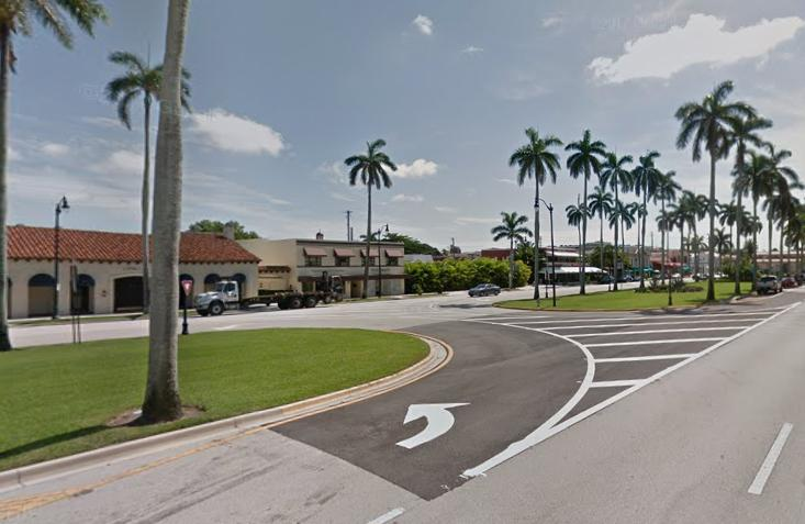 Royal Poinciana Way median cut