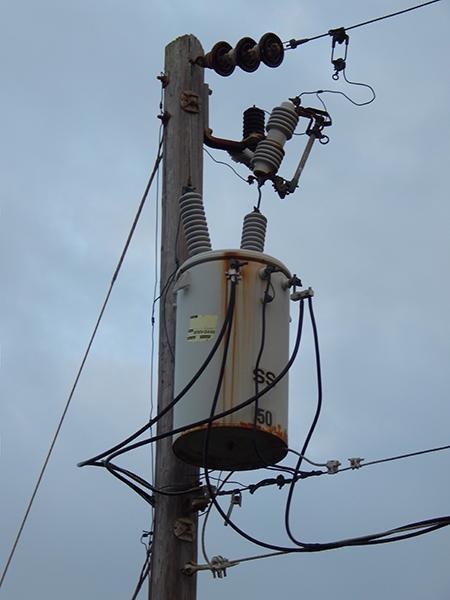 transformer power pole