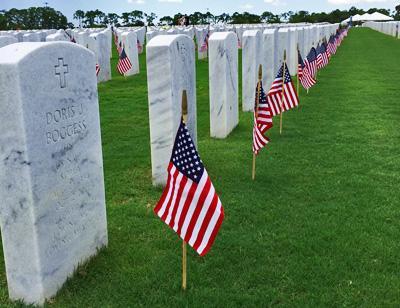 Memorial Day headstones