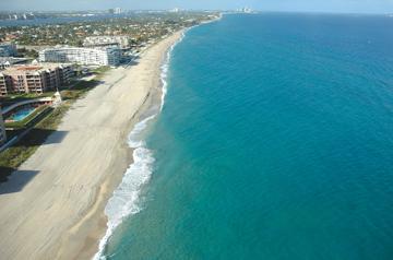 Palm Beach shore line