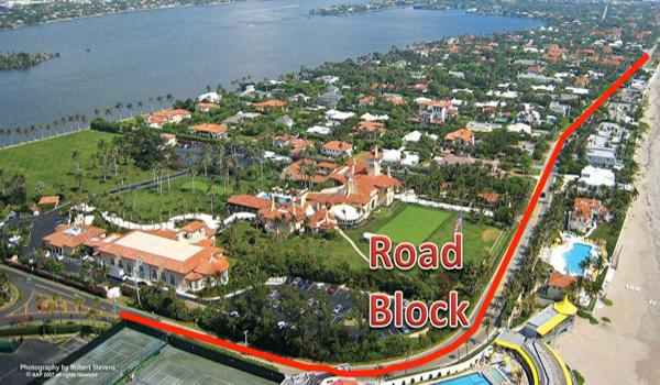 Mar-a-Lago Roadblock