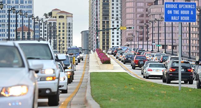 Flagler Bridge Traffic