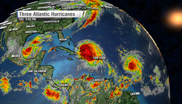 2017 three hurricanes