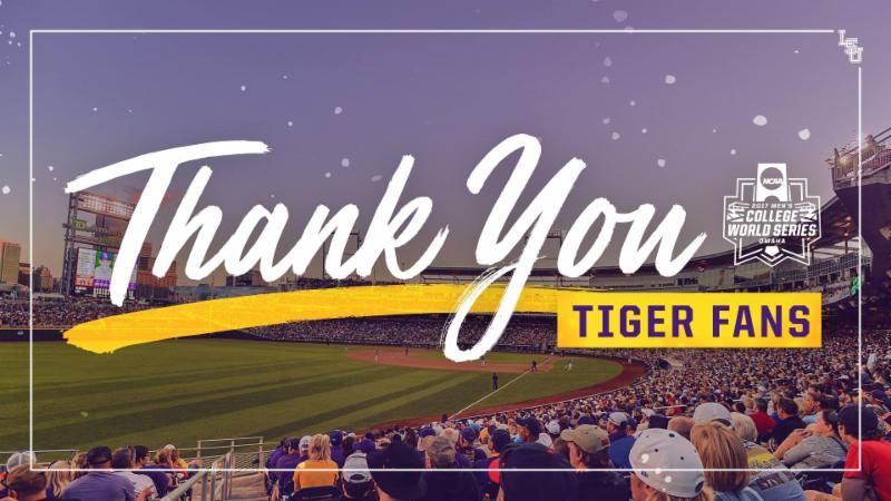 Thank you Tiger Fans