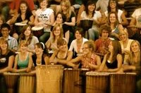 large group of drummers