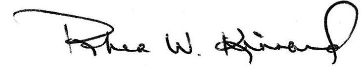Rhea Kinnard's signature