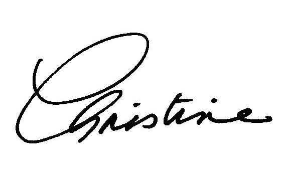 christine signature