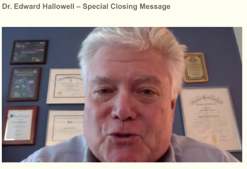 Watch Dr. Hallowell's Closing Speech on ADHD Awareness Expo
