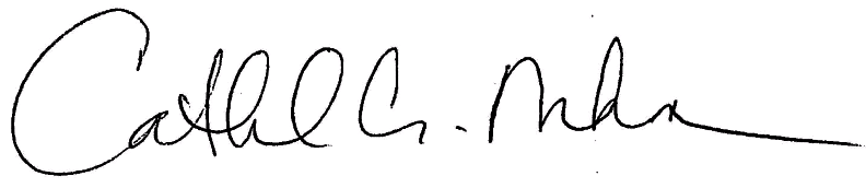 Cathie Mahon Signature