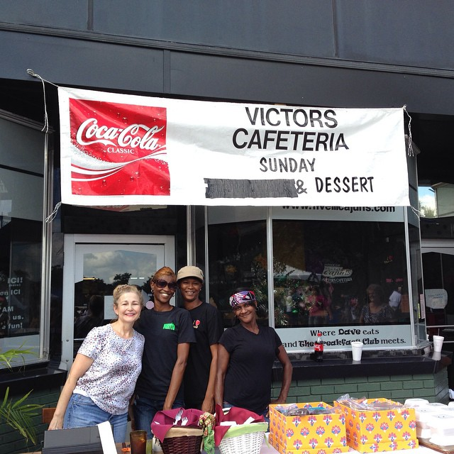 Victor's Cafeteria Booth at World Championship Gumbo Cookoff