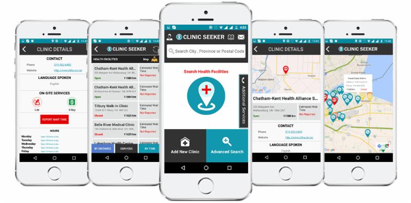 Clinic Seeker app