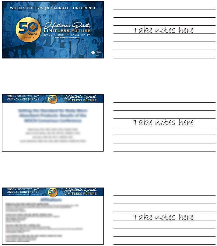 Conference Handouts