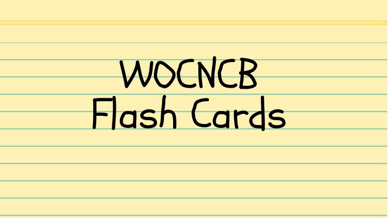 WOCNCB Flash Cards