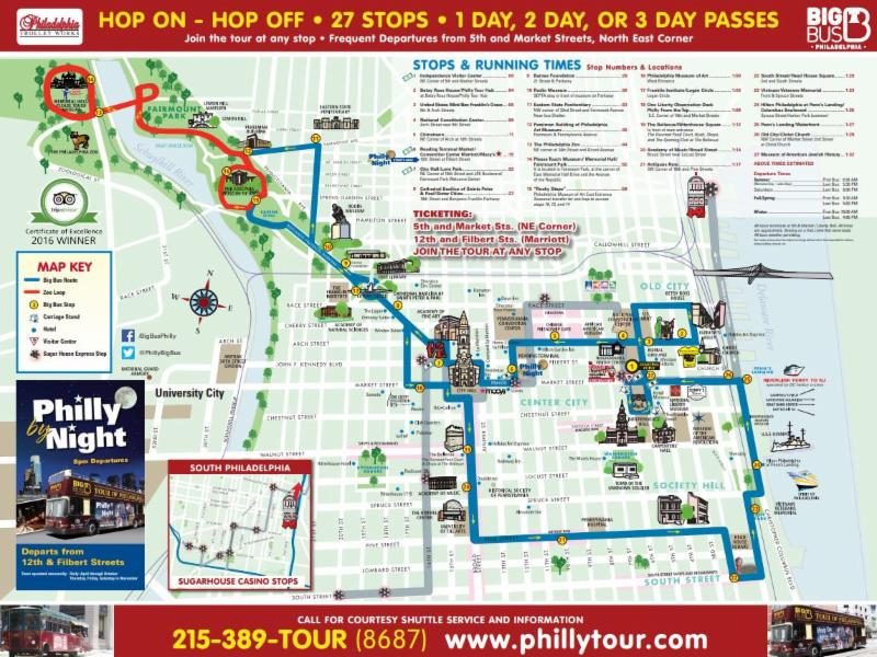 Map of Trolley tour stops