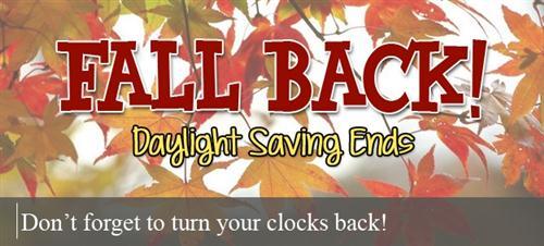 daylight savings fall