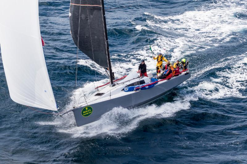 IRC One winner and claiming the overall win in IRC for the Fastnet Challenge Cup_ Didier Gaudoux_s JND 39_  Lann Ael 2 _ Rolex_Carlo Borlenghi