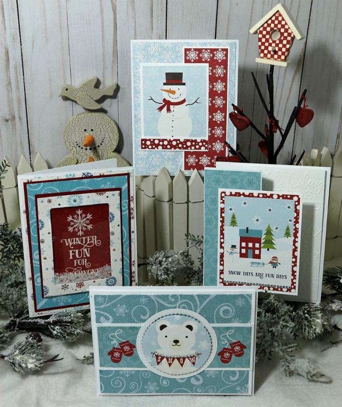 snowy echo park christmas cards with elaine