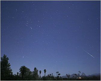 Aurigid Meteor by Dennis Mammana